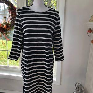 "Old Navy ""L"" Black/White Striped Dress"